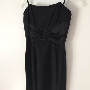 bebe black strapless dress XS